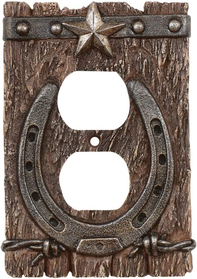Western Ranch Rustic Outlet Cover - Southwestern Decor