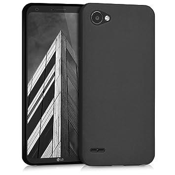 kwmobile Funda para LG Q6 / Q6+ - Carcasa para móvil en [TPU Silicona] - Protector [Trasero] en [Negro Mate]