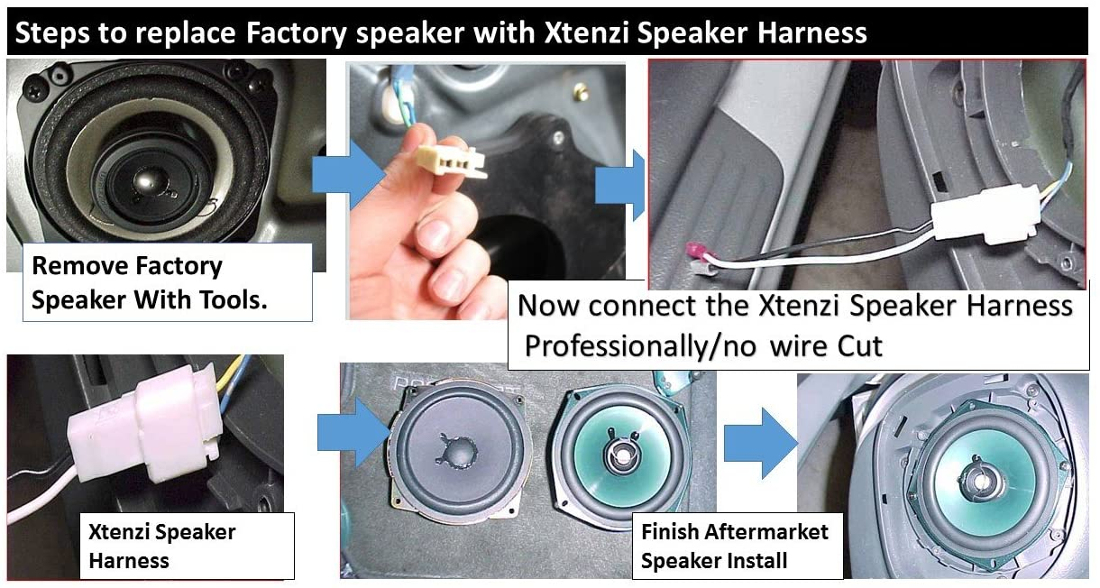 Xtenzi 2 Pair Speaker Harness Set Compatible with Select Mazda Vehicles