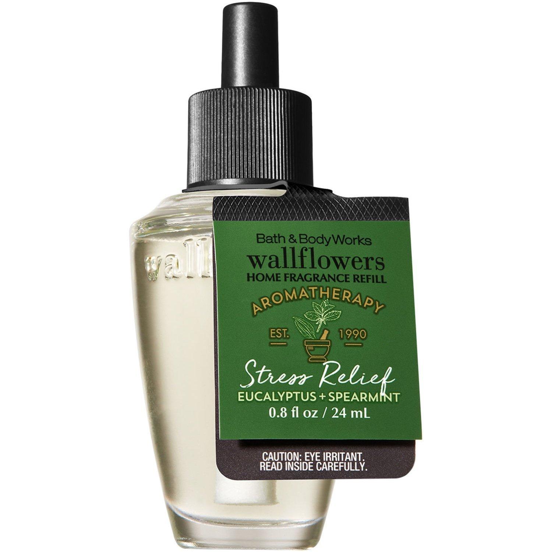 Bath & Body Works Aromatherapy Stress Relief - Eucalyptus & Spearmint Wallflowers Fragrance Refill, 0.8 Fl Oz