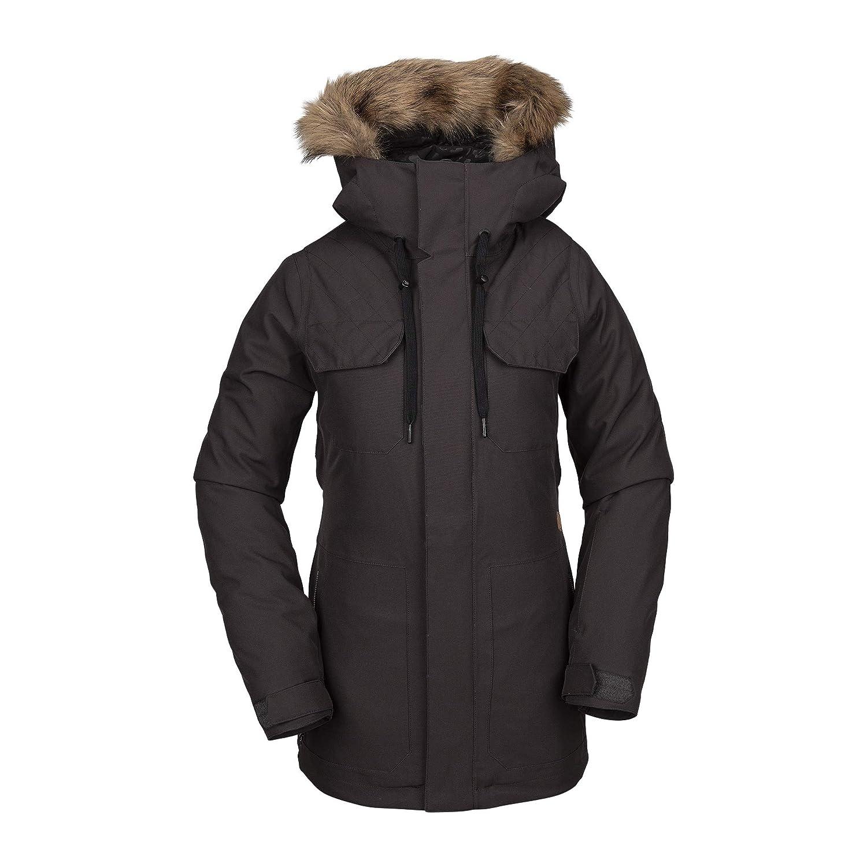 Vintage Black Volcom Women's Shadow Insulated Snow Jacket