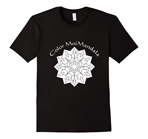 Mandala #3 Tee Shirt That Can Be Colored With Fabric Markers
