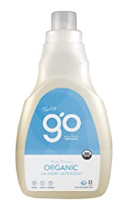 GreenShield Organic Go by Baby Laundry Detergent, Free & Clear, 50 Ounce (Pack of 4)