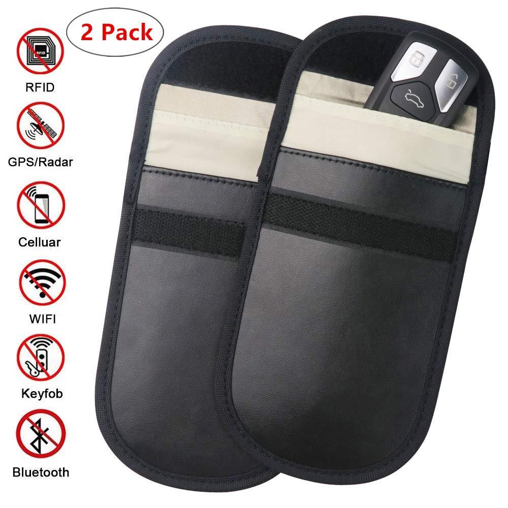 ZATAYE Car Key Fob Signal Blocking Pouch Bag - Car Keyless Signal Blocker Faraday Cage,RF Signal Shielding Pouch Bag for Car Key FOB,Antitheft Lock Devices,Fob Protector WiFi/GSM/LTE/NFC/RF Blocker