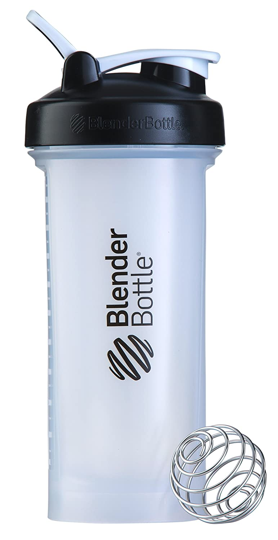 BlenderBottle Pro45Extra Large Shaker Bottle, Clear/Black, 45-Ounce
