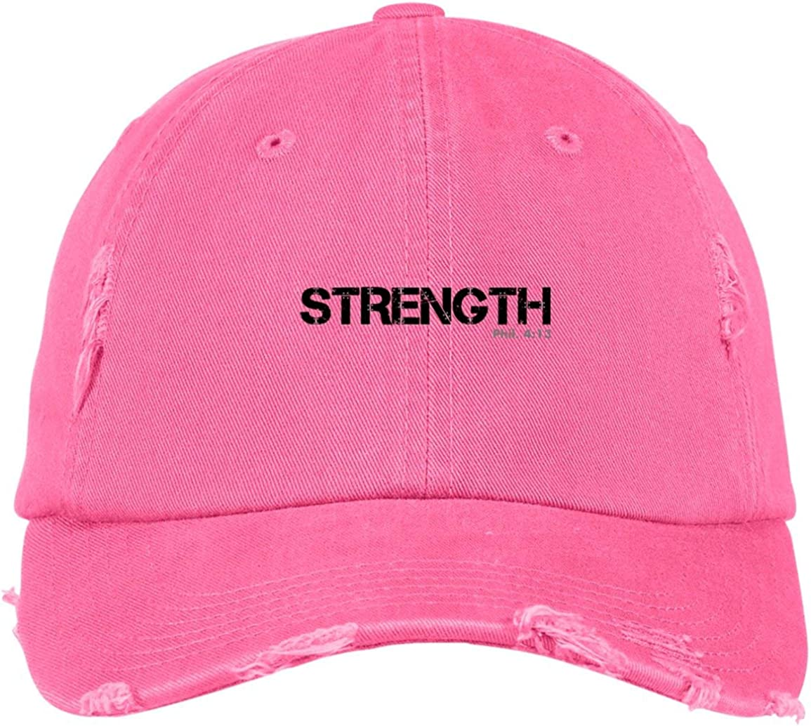 TXRepublic Strength Phil 4:13 Distressed Dad Cap
