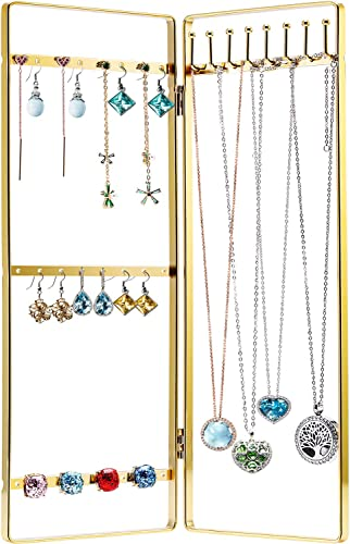 Amazon Com Earrings Holder Necklace Hanging Jewelry Organizer Stand Display Pendant Rack For Jewelry Hanging Supplies Golden Style A Jewelry