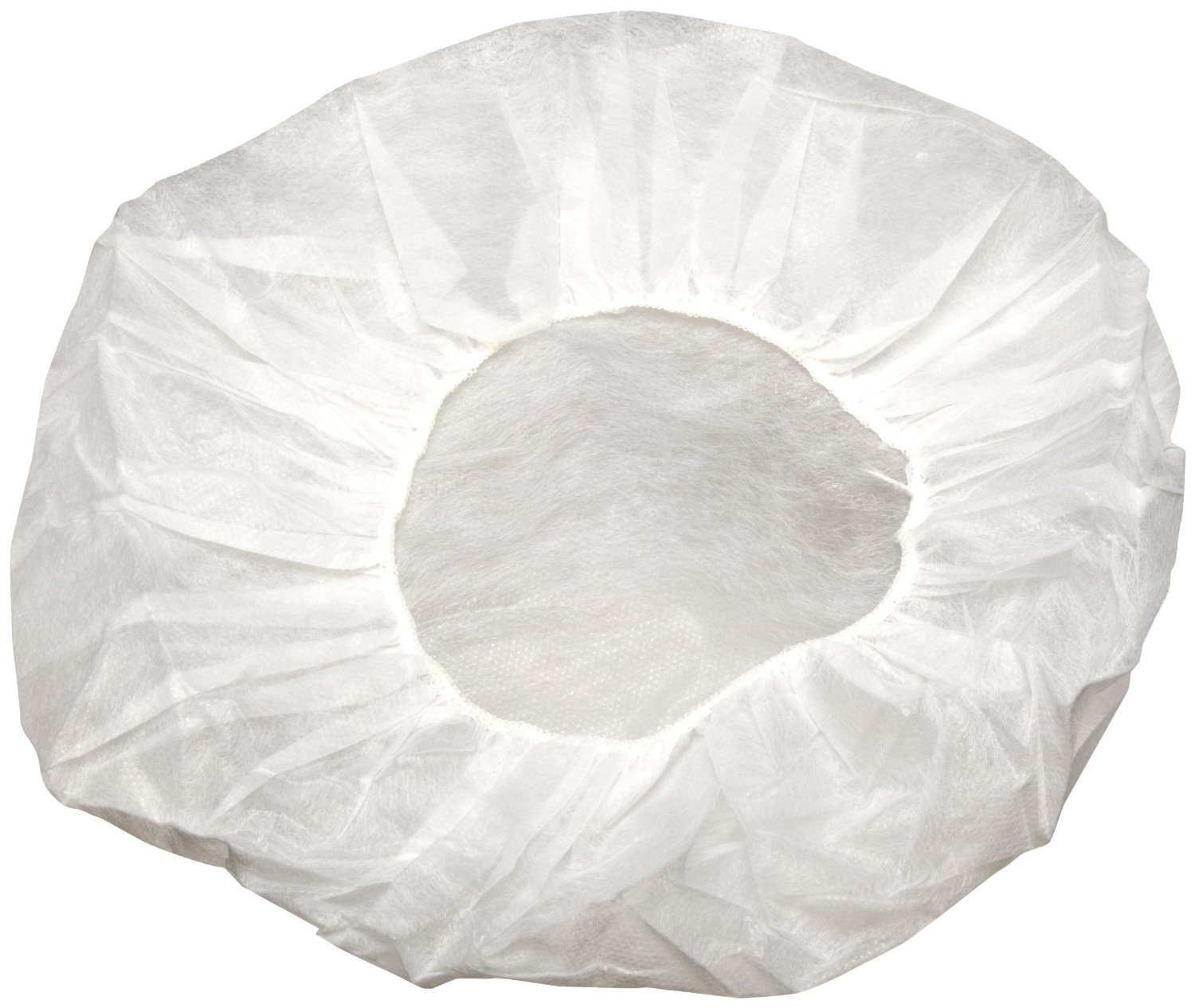 Shield Safety White Bouffant 18'' x 10g, Cap Multipurpose, Disposable and Latex Free, (500 Count)