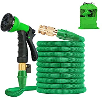 Multifunctional Flexible Expanding Car Garden Water Hose Pipe Green Spray Gun Nozzle Portable Green Hot Sale Auto Car Styling Sponges, Cloths & Brushes