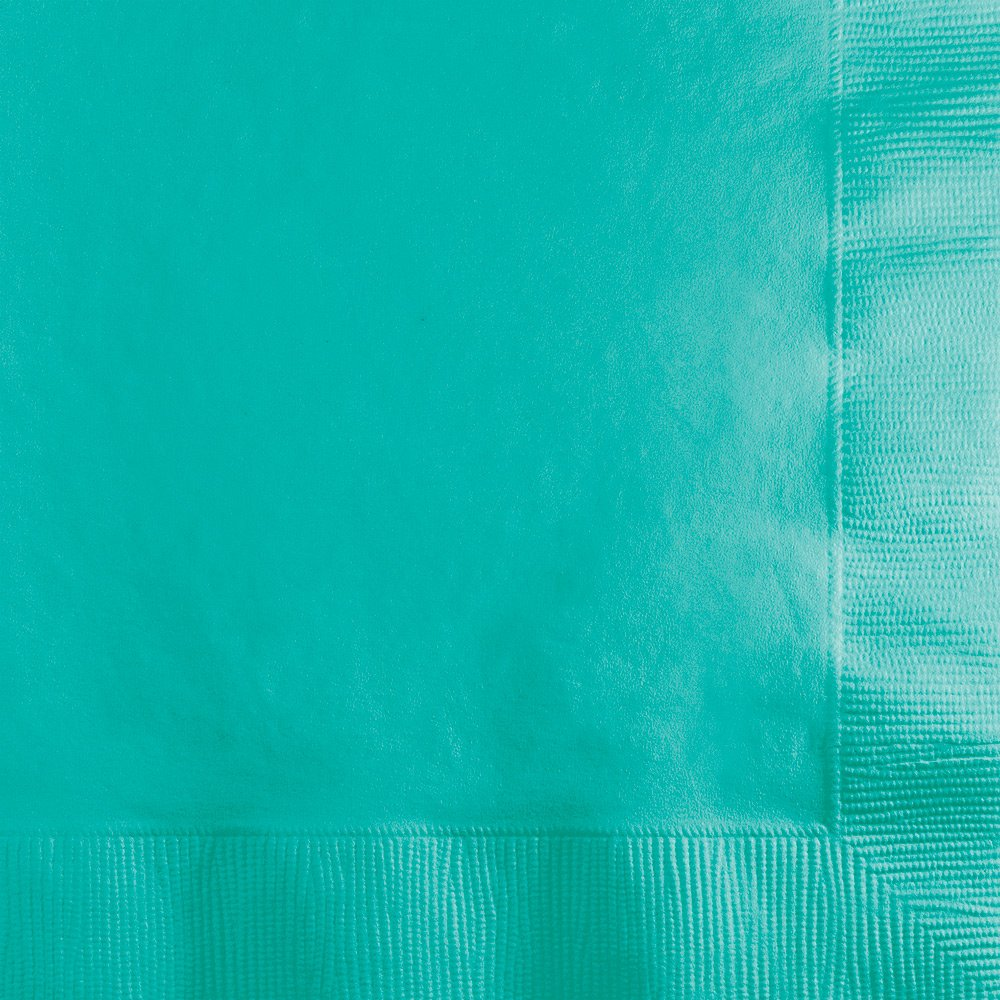 Creative Converting 324776 Touch of Color 500 Count Beverage 3-Ply Paper Napkins, Teal Lagoon