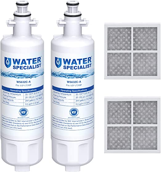 2 packs Purity Pro Fits LG LT700P ADQ36006102 Kenmore 46-9690 Water Filter