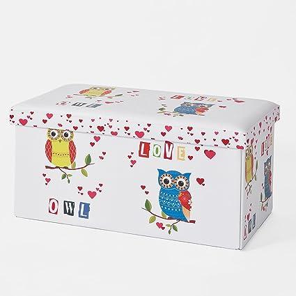 SoBuy® Taburete, cubo taburete, caja de almacenaje, caja puff, puff ...
