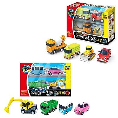 Little Bus Tayo Friends Special Mini Car Toy 8 pcs Set ( Ver.2 + Ver.3) Truck Mixer: Toys & Games