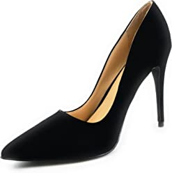 1136b3e0ee1 Anne Michelle Women s Sexy Stilettos Pointed Toe Pump Shoes Hibiscus-01S