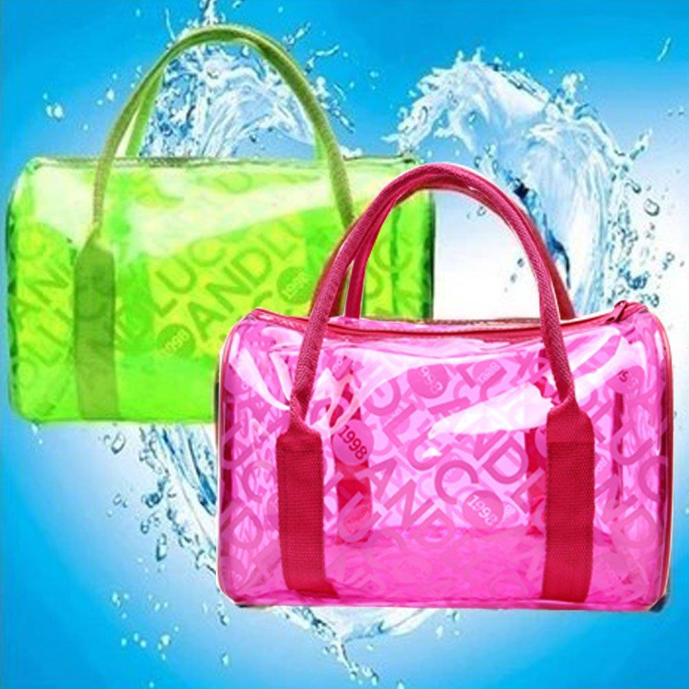 Donalworld Women Summer Clear Beach Candy Waterproof Handbag Pillow Bag Lpink by Donalworld (Image #4)