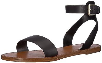 9857eb16343 ALDO Women s CAMPODORO Flat Sandal Black Leather 6 ...