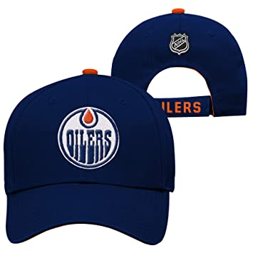 reputable site 11a7d e15a5 Image Unavailable. Image not available for. Colour  Youth Edmonton Oilers  NHL Basic Structured Adjustable Cap