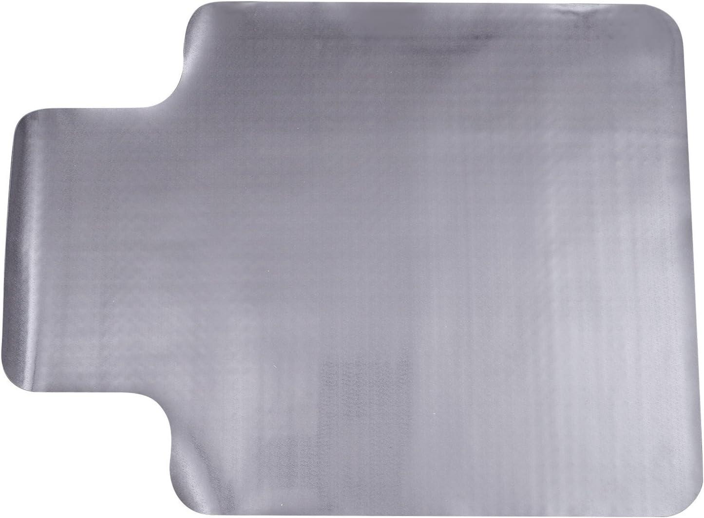 HOMCOM Alfombra Protectora para Silla de Oficina 90x120cm Protector Suelo Enmoquetado (Convexo, Sin picos antideslizantes)