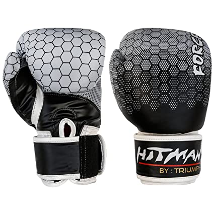 Buy Hitman Gb04862 12 Pu Triumph Force Print Boxing Gloves 12 Oz Black Online At Low Prices In India Amazon In