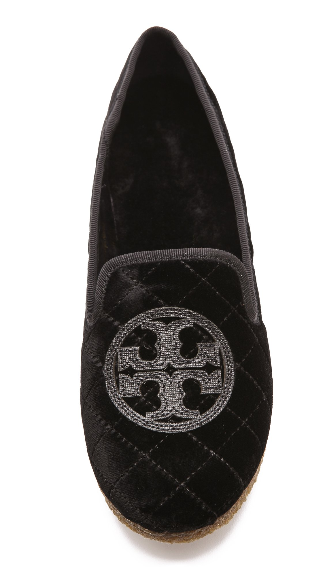 Tory Burch Quilted Billy Slipper, Smart Velvet/Leather, Black (6 B(M) US)