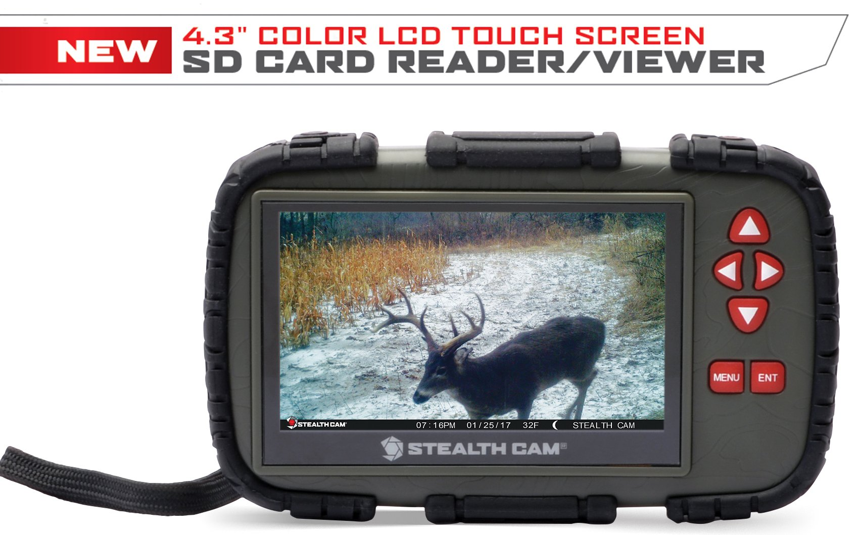 Stealth Cam 4.3″ Color LCD Touch Screen SD Card Reader/Viewer