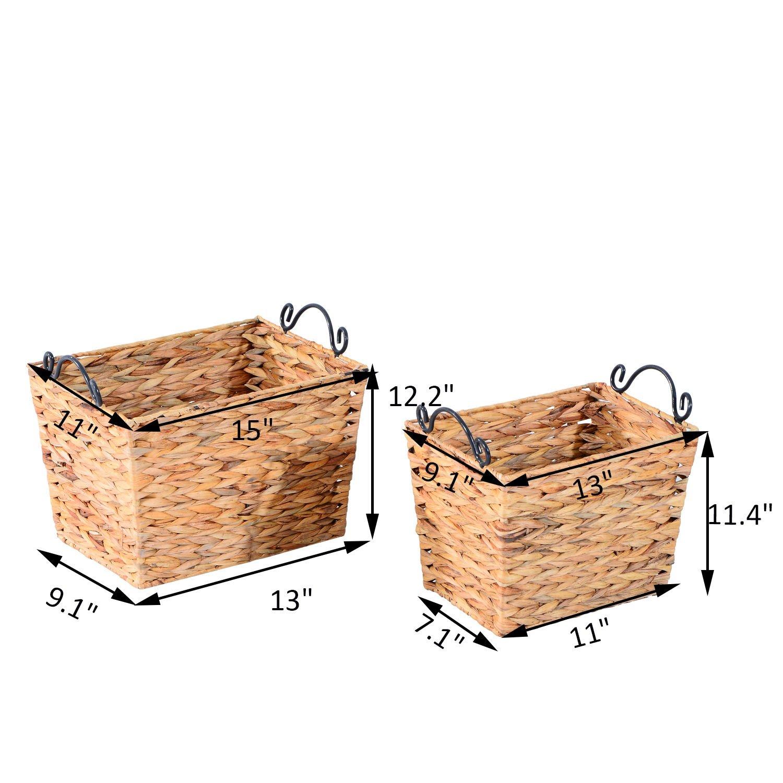 Generic NV_1008004526-DWX-US28 <8&45261> Decor Craftsven Bins Woven Bins Straw Nesting Storage Organizer Large Basket Set-2 Home Decor Crafts Straw Nesting