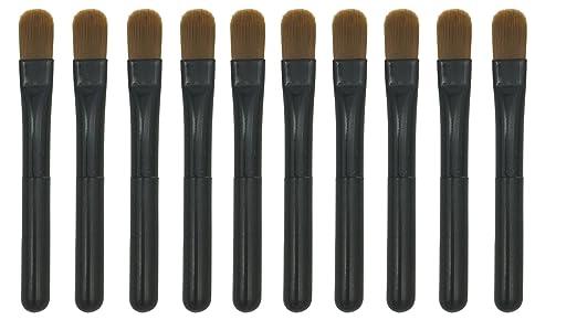 Vôsaidi Eye shadow Brush Portable Premium Quality Angled Eyeshadow Brush and Spoolie Mini Brush