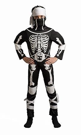 CARITAN disfraz esqueleto Ninja Warior disfraz con capucha ...