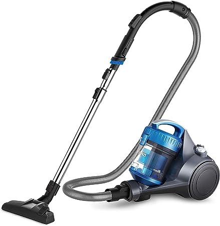 Eureka Whirlwind R100 – Aspiradora sin bolsa (700watt Motor de alta eficiencia, 1,5 L polvo Volumen, waschabares filtro HEPA, dos modelos para suelos y alfombras, 76 Db) Azul, [Clase energética A]: Amazon.es: Hogar