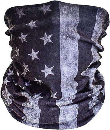 Multifunctional Seamless Microfiber American Flag UV Protection ...