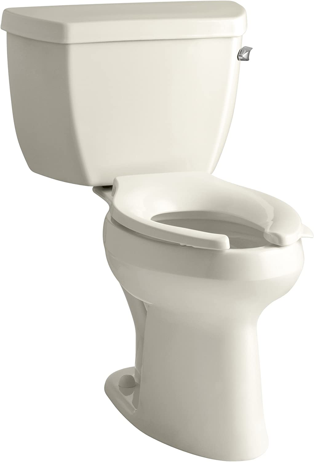 Almond Kohler K-3493-RA-47 Highline Classic Pressure Lite Comfort Height Elongated 1.4 gpf Toilet with Right-Hand Trip Lever Less Seat