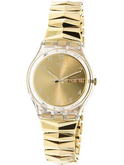 Swatch Reloj Digital para Mujer de Cuarzo con Correa en Acero Inoxidable GE708A: Amazon.es: Relojes