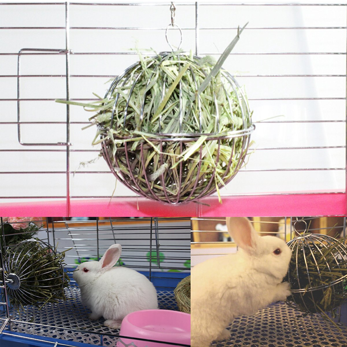 Evilandat Heno Manger - Dispensador de alimentos (diámetro de la bola) 13 cm para hámster de cobaya, chinchillas, conejo conejo: Amazon.es: Productos para ...
