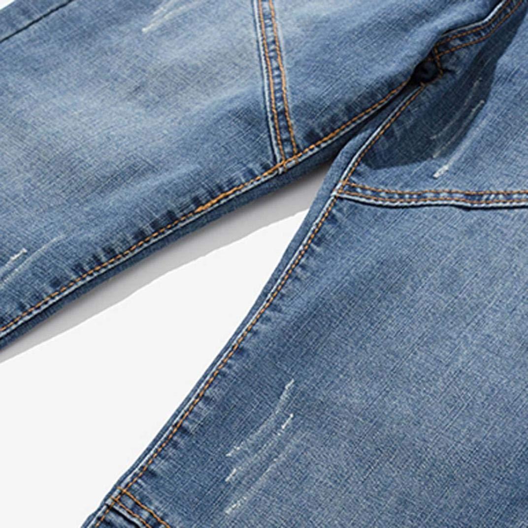 Alimao 2018 Men's Pants Casual Autumn Zipper Patchwork Denim Vintage Wash Hip Hop Trousers Jeans Pants by Alimao (Image #5)