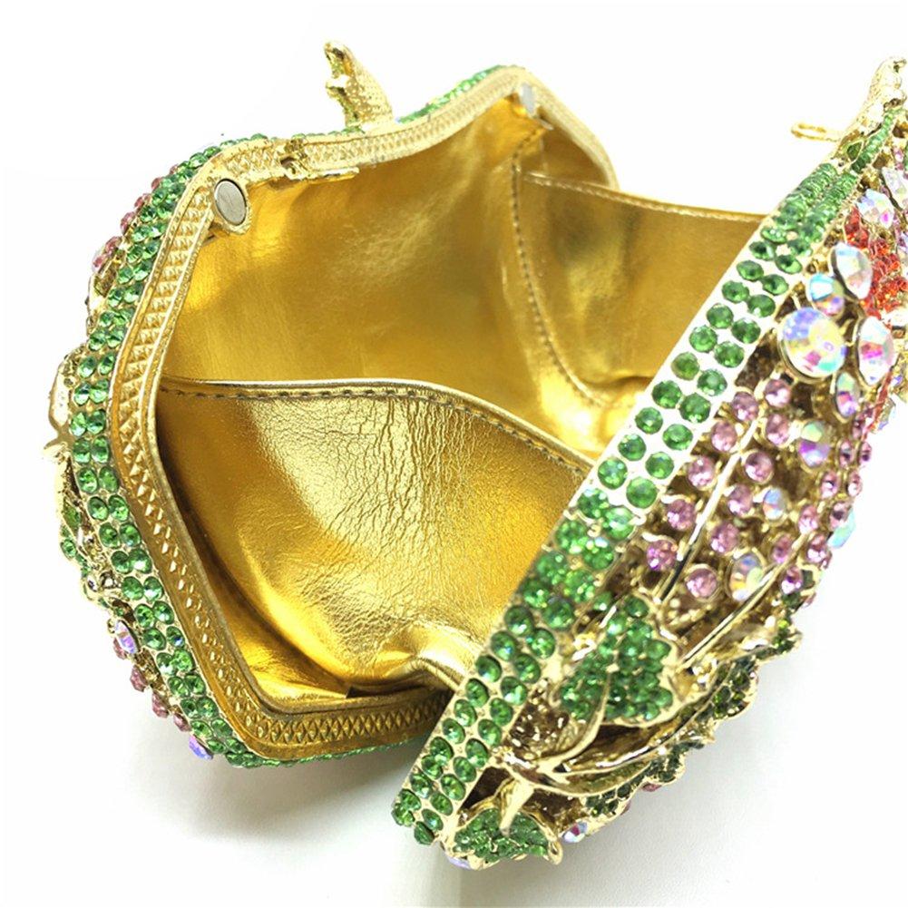 Icegrey kvinnor kväll kuvertväska strass kristall bröllop brud handväskor gRÖN