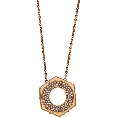 266b846af Amazon.com: Swarovski Bolt 5073124 Rose Gold Tone Crystal Pave Hexagon Pendant  Necklace: Jewelry