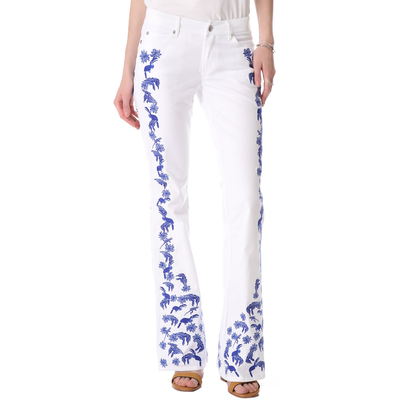 Rebecca Minkoff Women's Embroidered Skinny Bootcut Jeans Sz 30 Indigo