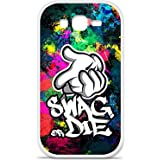 Housse Coque Etui Samsung Galaxy Grand / Grand Plus silicone gel Protection arrière - Swag or die