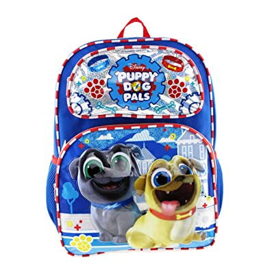 "Disney's Puppy Dog Pals 16"" Large Size Backpack - Paw Prints A16921 
