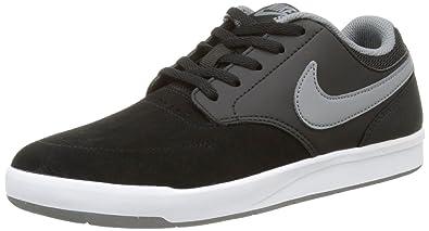 Nike SB Fokus Kids' Skateboarding Shoe (5 Big Kid M, Black/White