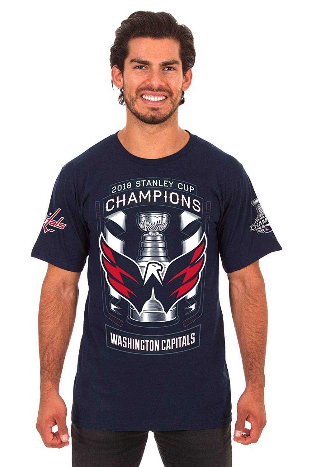 [Size X-Large] NHL Washington Capitals Shirt, 2018 Stanley Cup Champions