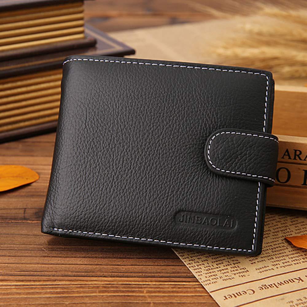 Sanyaleishen Men Short Bifold Business Leather Wallet Money Card Holder Bag Purse
