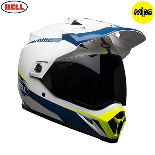 Amazon.es: Bell Cascos MX-9 Adventure MIPS, linterna blanco/azul/amarillo, XS