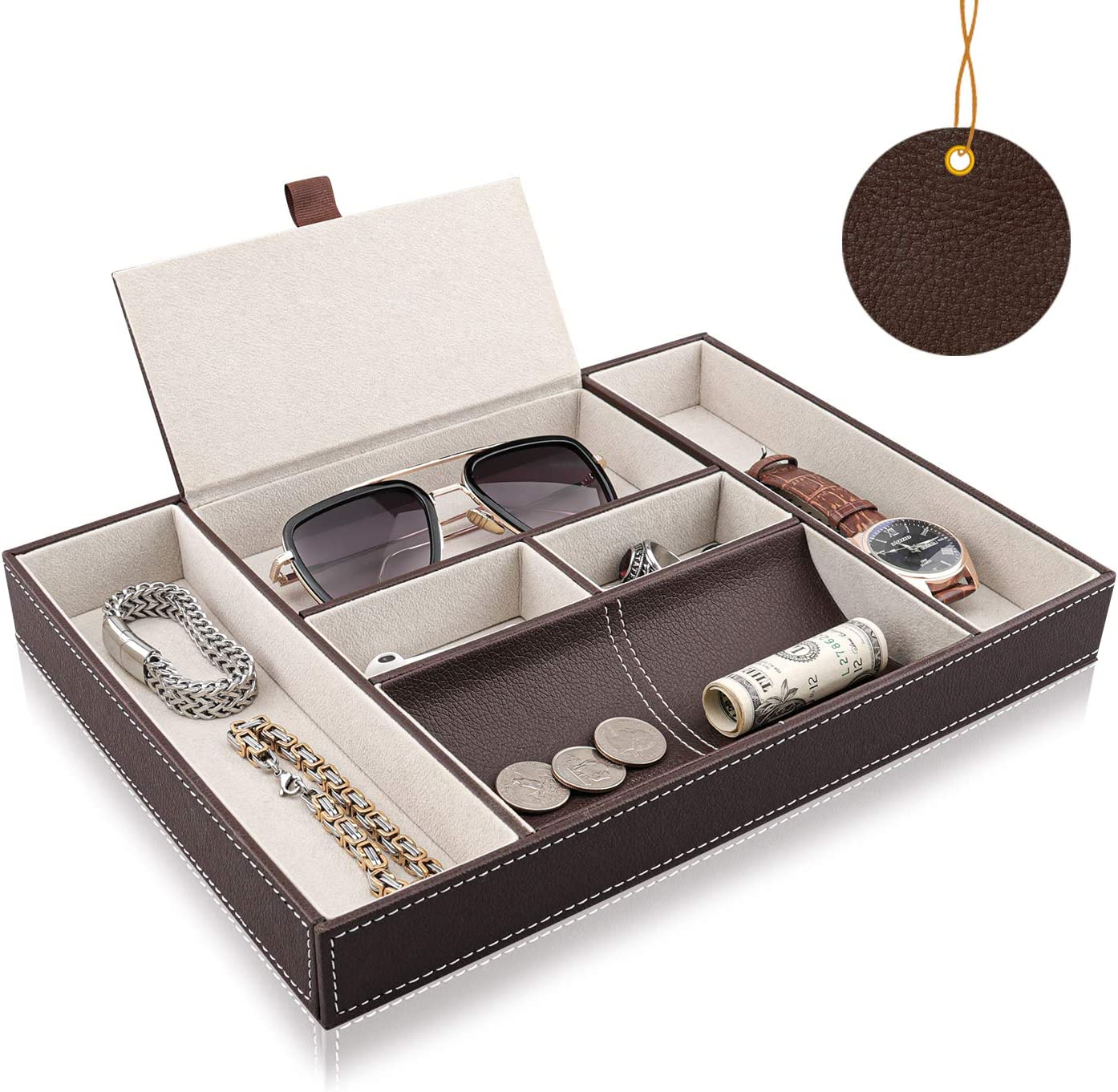 Mens Dresser Top Organizer MAGGIFTArtMuseKits Maggift Faux Leather Valet Tray