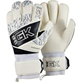 KixGK Raptor Goalkeeper Gloves (Sizes 6-12): Professional Level Match-Training Adult & Youth Soccer Goalie Gloves - Designed for Performance, Comfort, & Safety