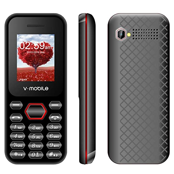 Cheap and Affordable Feature Phone V mobile D2, 2 4 Inch Dual Sim Dual  Standby 1200mAh Battery 0 08MP Pixels RAM32MB+ROM64MB Support MP3/MP4  Players