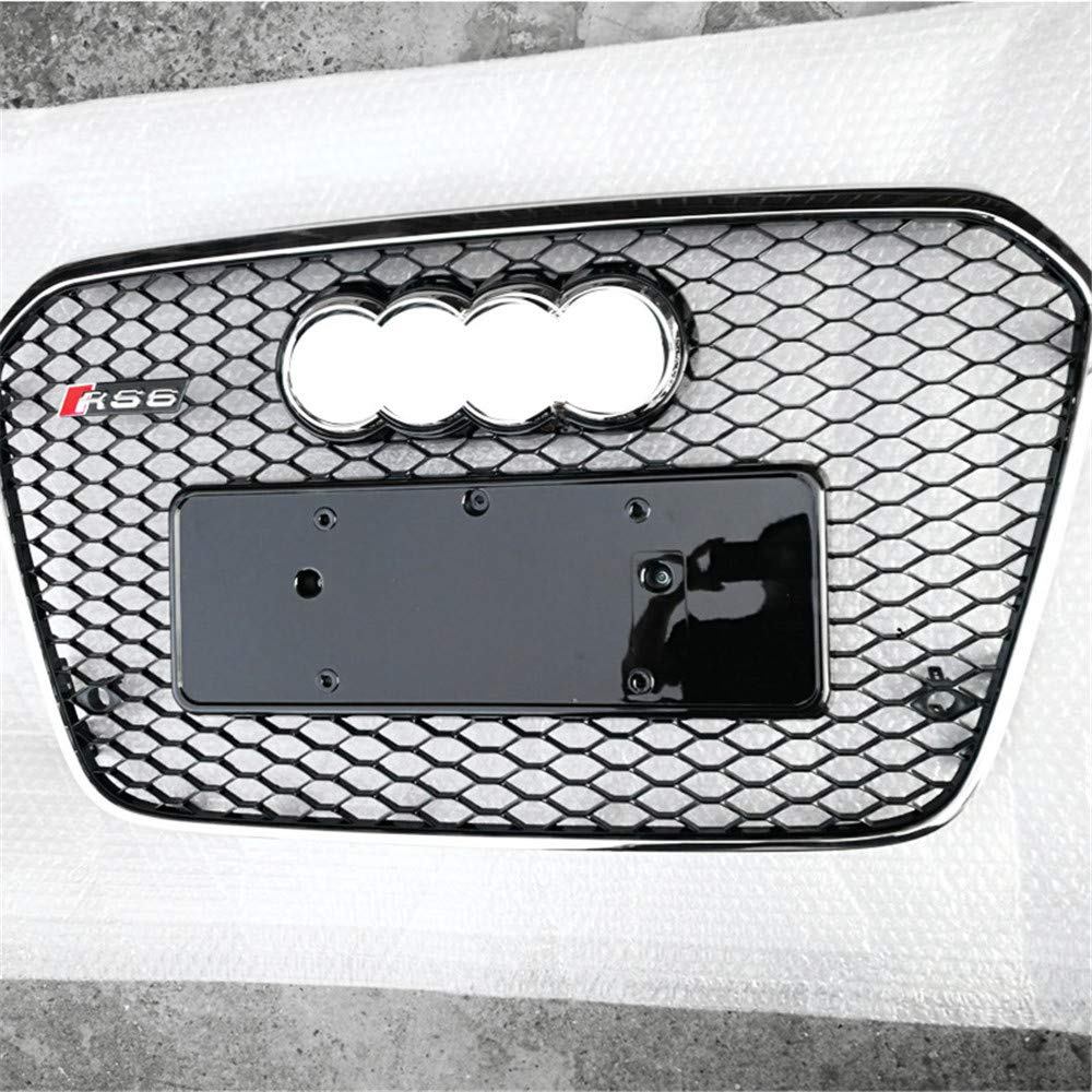 S6 2012-2015 1-Pack Xinshuo ABS Honeycomb-Typ K/ühlergrill f/ür RS6 Style A6