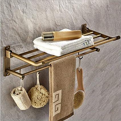 Amazon.com: LGSYSYP Bathroom accessories/bathroom towel rack copper ...