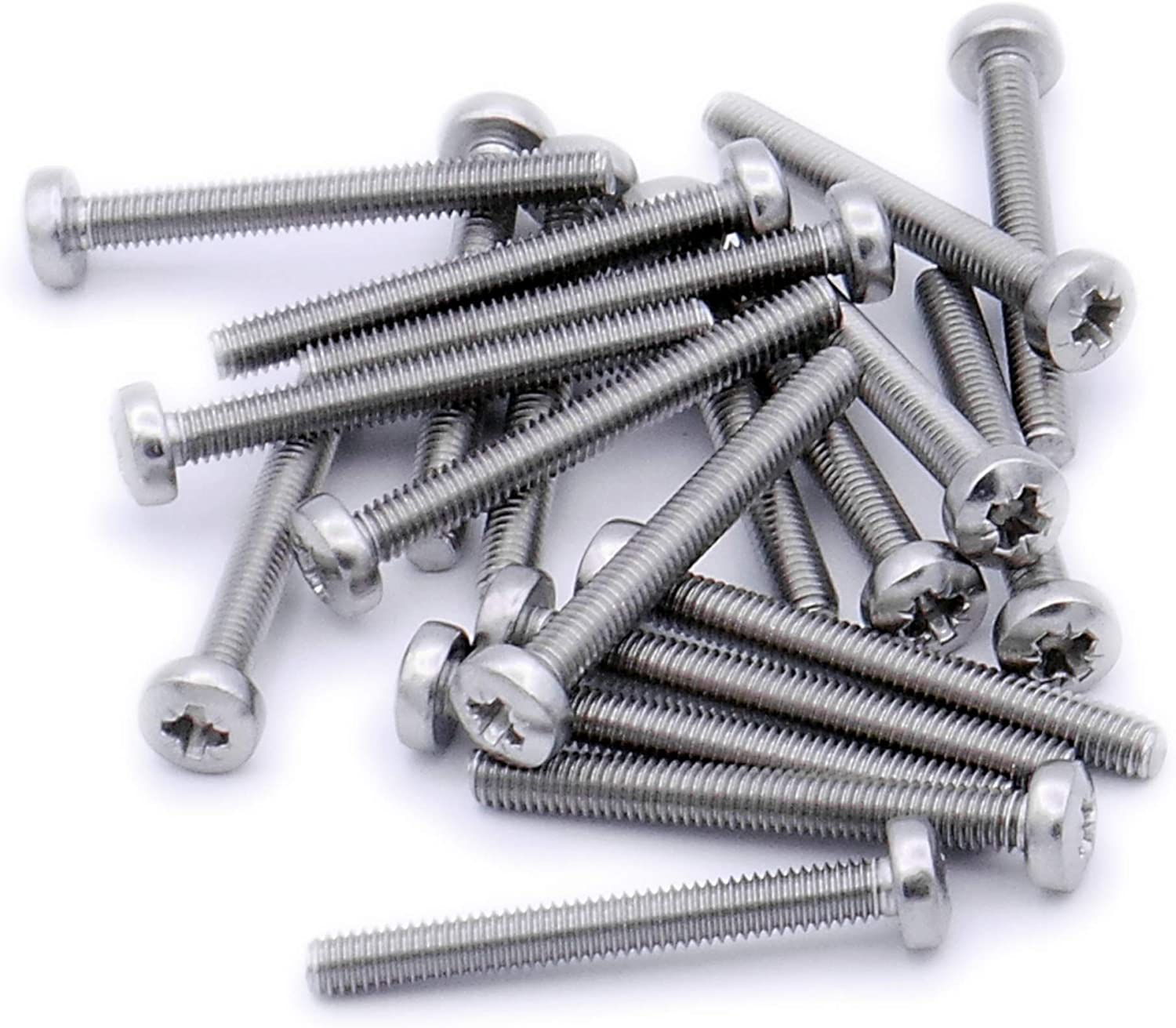 Fastener M4/×20 Flat Head A2-70 Home Use Office Use for Industrial Screw 8mm to 30mm Bolt