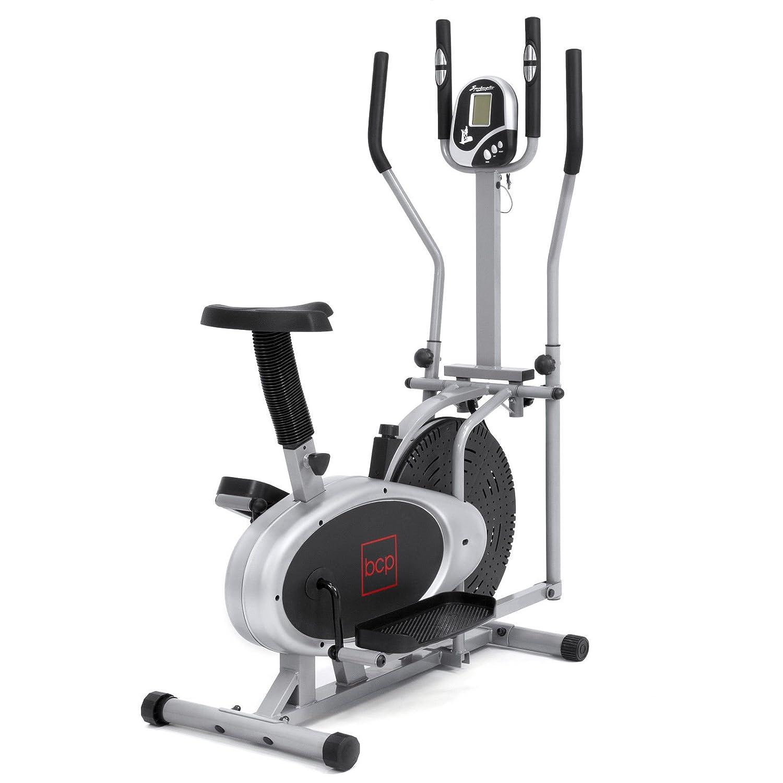 Gris, bicicleta elíptica 2 en 1 Máquina de entrenamiento para Cruz ...